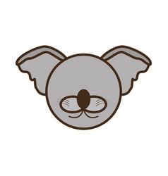face koala cartoon animal vector image