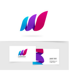 Abstract three elements logo gradient vector