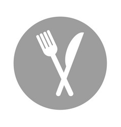 Fork and knife isolated icon vector