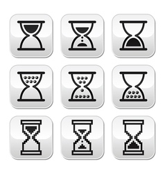 Hourglass sandglass icon set vector