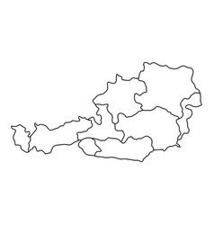 Austria map of black contour curves of vector