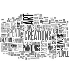 Art shows text word cloud concept vector