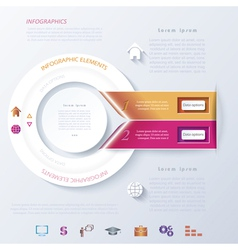 Abstract infographic design with circle and ribbon vector image