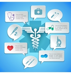 Medical paper infographic vector image