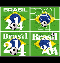 Brasil 2014 football championship vector