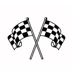 Checkered flags icon vector