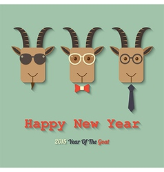 Happy new year 2015 year of the goat vector