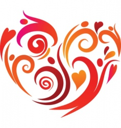 Artistic heart vector