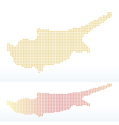 Map of republic of cyprus with with dot pattern vector