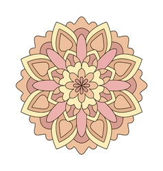 Pink round ornament pattern vector