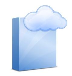 cloud software vector image