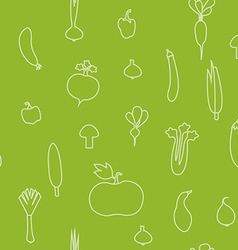 A seamless pattern with vegetables silhou vector
