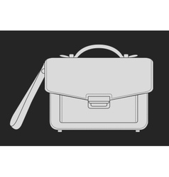 Businessman hand bag chalk on blackboard vector