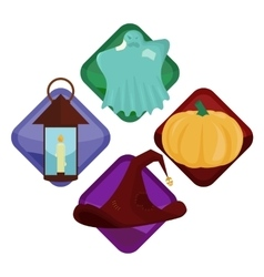 Modern Halloween icons vector image