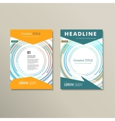 Set template for brochure poster application and vector