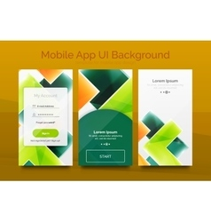 Mobile background ui vector