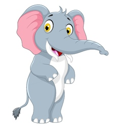 Cute elephant cartoon standing vector