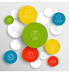 abstract circles infographic template vector image