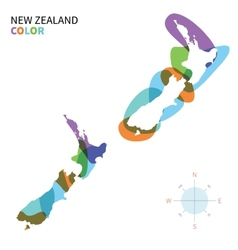 Abstract color map of New Zealand vector image
