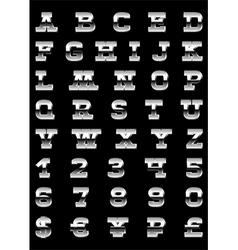 aFontMetal vector image