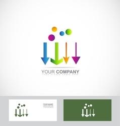 Arrow different logo vector image