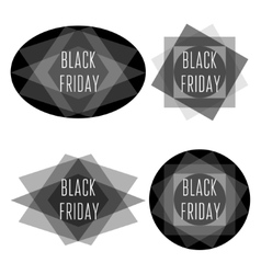 Black friday title collection vector
