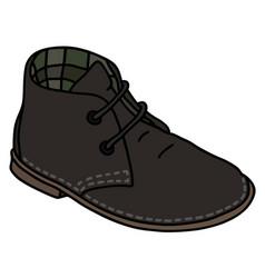 black suede shoe vector image