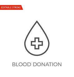 blood donation icon vector image