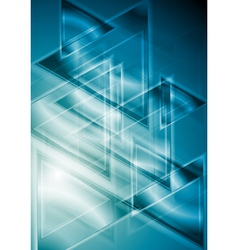 Blue geometrical background vector image