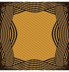 Border with striped lines in ochre color vector