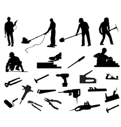 Builders vector image