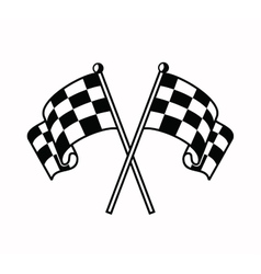 checkered flags icon vector image