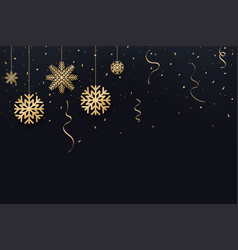 Christmas and new year background golden vector