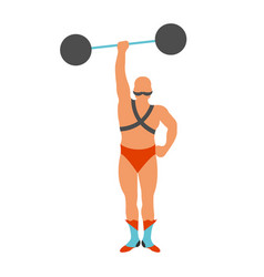 Circus strongman icon vector