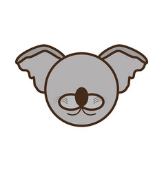 Face koala cartoon animal vector