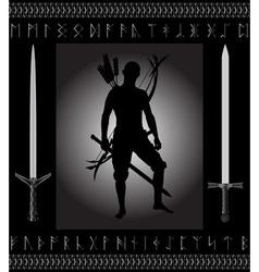 Fantasy hunter vector