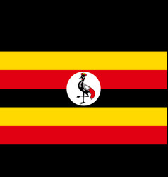 Flag of uganda african state vector