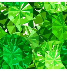 Gem seamless pattern Emerald pattern background vector image