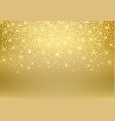 gold glitter dust texture shining on golden vector image vector image