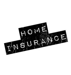 home insurance rubber stamp vector image