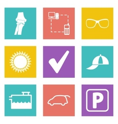Icons for Web Design set 13 vector image vector image