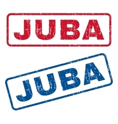 Juba Rubber Stamps vector image vector image