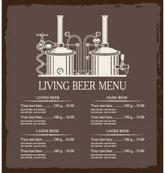 living beer menu vector image