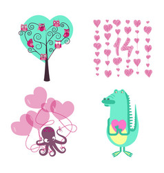 love elements for valentines day vector image vector image