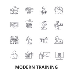 modern training business learning online course vector image vector image