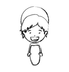 Monochrome blurred silhouette of baby jesus vector