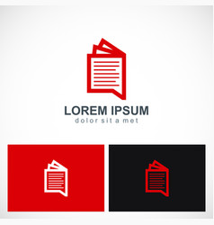 notepad document paper logo vector image