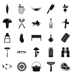 Picker icons set simple style vector