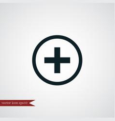 Plus icon simple vector