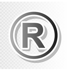 Registered trademark sign new year vector